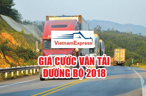 Giá cước vận tải đường bộ 2018
