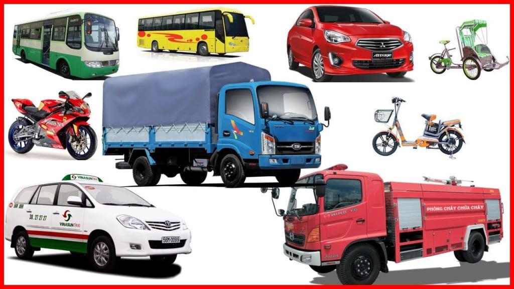 Các loại phương tiện vận tải đường bộ