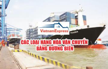 Các loại hàng hóa vận chuyển bằng đường biển