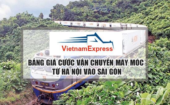 Bảng giá cước vận chuyển Máy Móc từ Hà Nội đi Sài Gòn